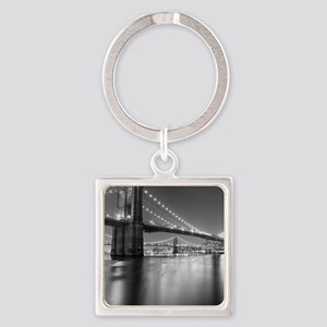 Brooklyn Bridge and Manhattan Brid Square Keychain