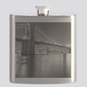 Brooklyn Bridge and Manhattan Bridge at Nigh Flask