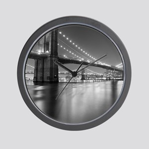 Brooklyn Bridge and Manhattan Bridge at Wall Clock