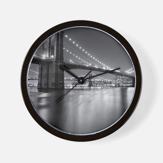 Brooklyn Bridge and Manhattan Bridge at Wall Clock