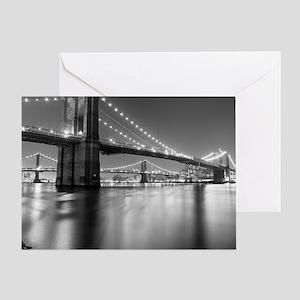 Brooklyn Bridge and Manhattan Bridge Greeting Card