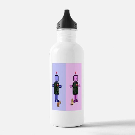 robot flip flops Water Bottle