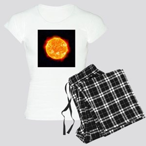 The Sun showing solar flare Women's Light Pajamas
