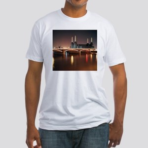 Battersea Power Station at night wi Fitted T-Shirt