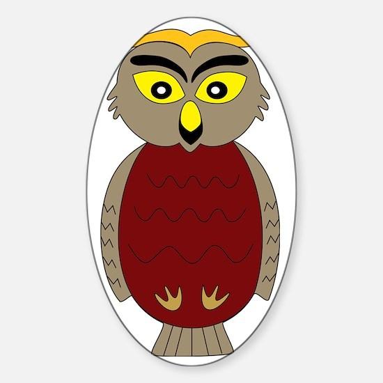 Teacher Owl Sticker (Oval)