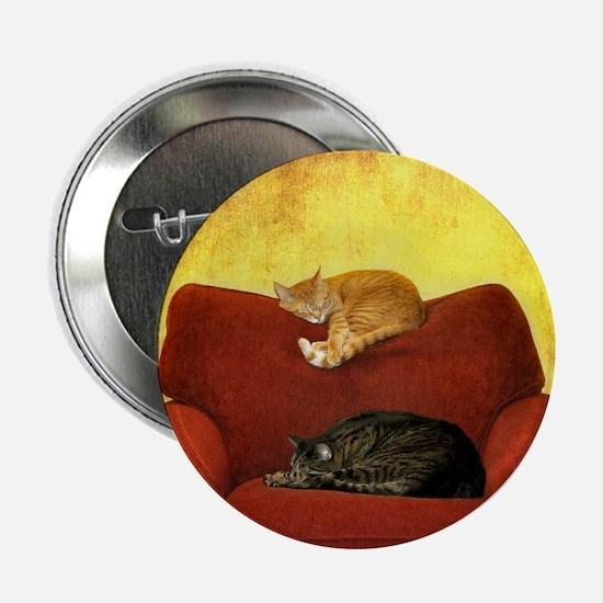 "Cats sleeping on sofa. 2.25"" Button"