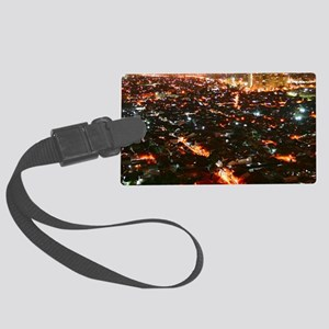 City of Jakarta at night, Malays Large Luggage Tag