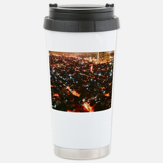City of Jakarta at nigh Stainless Steel Travel Mug