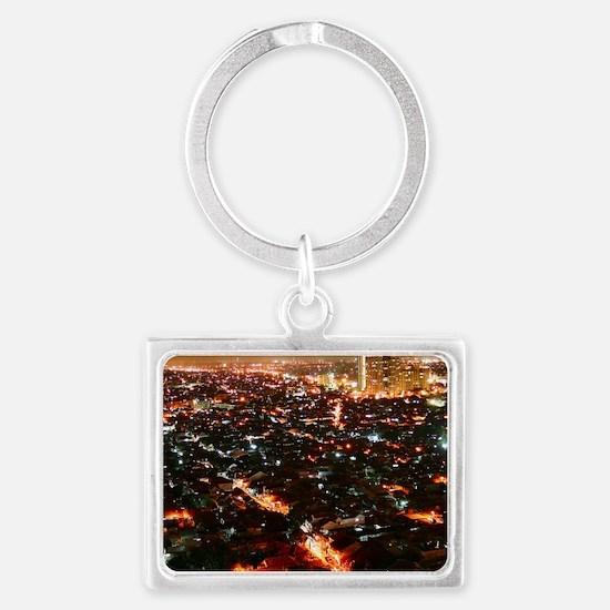 City of Jakarta at night, Malay Landscape Keychain