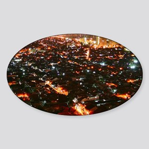 City of Jakarta at night, Malaysia Sticker (Oval)