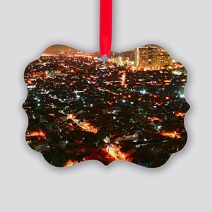 City of Jakarta at night, Malaysi Picture Ornament