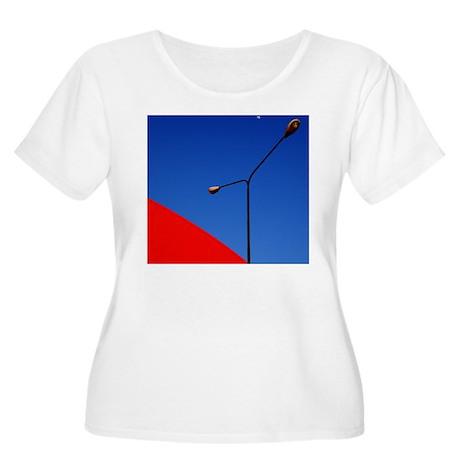 Clear day nea Women's Plus Size Scoop Neck T-Shirt