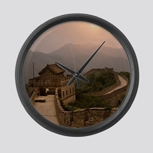 Aerial view of the Great Wall of  Large Wall Clock