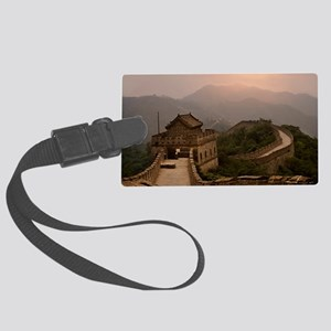 Aerial view of the Great Wall of Large Luggage Tag