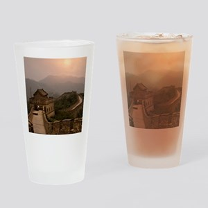 Aerial view of the Great Wall of Ch Drinking Glass