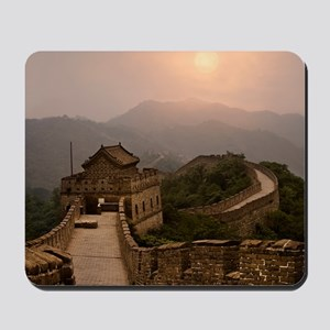 Aerial view of the Great Wall of China Mousepad