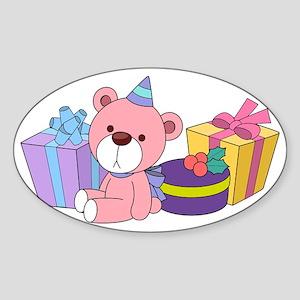 Birthday Party Sticker (Oval)