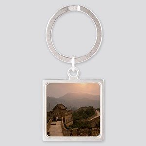 Aerial view of the Great Wall of C Square Keychain