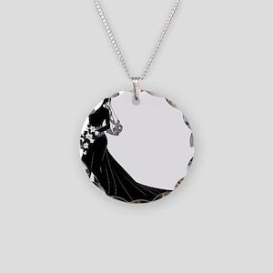 Elegant Couple Necklace Circle Charm