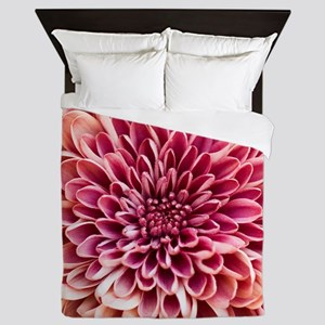 Close up of chrysanthemum. Queen Duvet