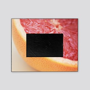 Close up of halved pink grapefruit. Picture Frame