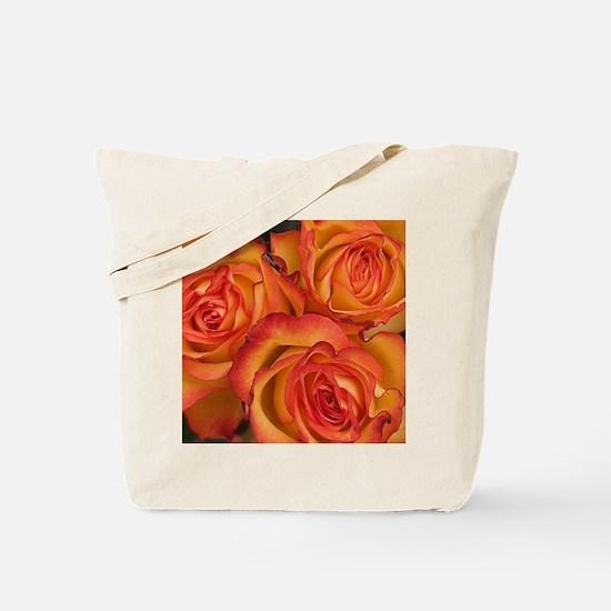 Bunch of orange roses at Sainsburys Local Tote Bag