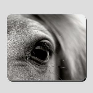 Black and white close up of eye lashes o Mousepad