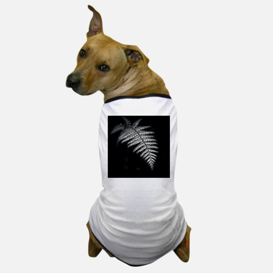 Black and white image of fern frond wi Dog T-Shirt