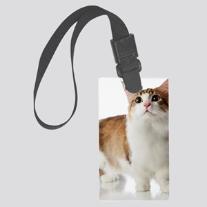 Cat with short legs Large Luggage Tag