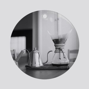 Chemex coffee maker and kettle for  Round Ornament