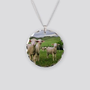 Curious lambs during an even Necklace Circle Charm