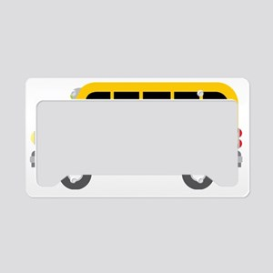 School Bus License Plate Holder