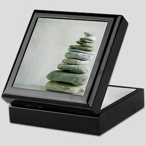 Eleven flat mountain river pebbles si Keepsake Box