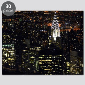 Chrysler Building at night, New York City. Puzzle