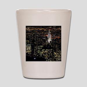 Chrysler Building at night, New York Ci Shot Glass