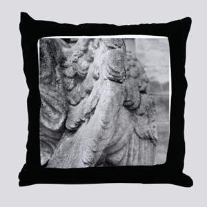 Close up of wing of statue, Germany. Throw Pillow