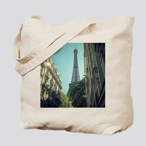 Eiffel Tower taken from different angle. Tote Bag