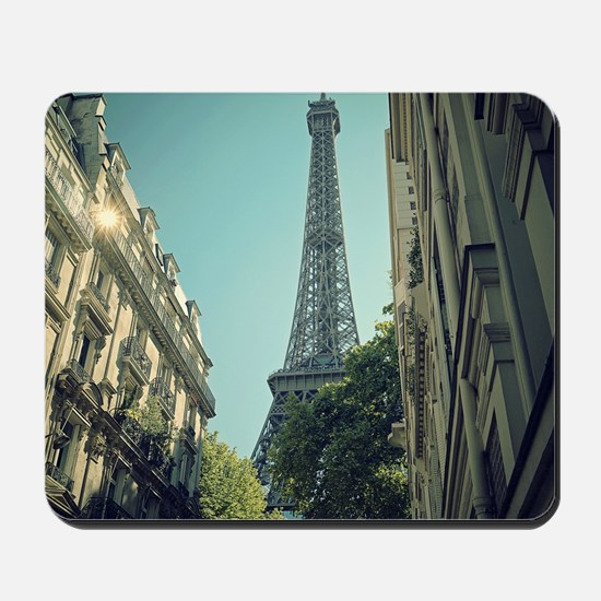 Eiffel Tower taken from different angle. Mousepad