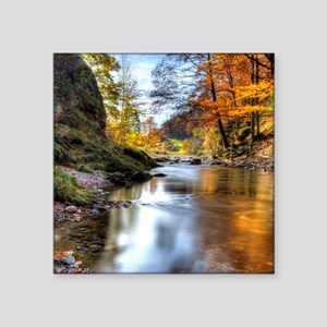 "Fall at Prien Creek. This c Square Sticker 3"" x 3"""