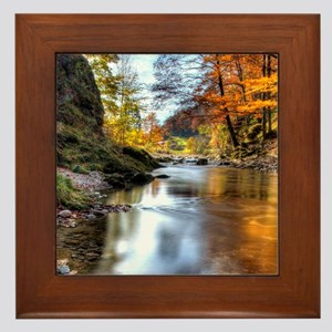 Fall at Prien Creek. This creek one of Framed Tile