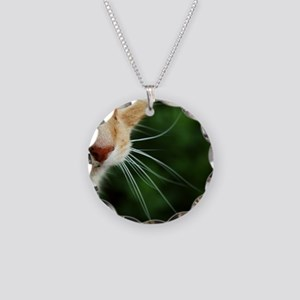 Ginger Cat Necklace Circle Charm