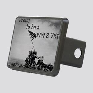 Proud to be a WW 2 Vet Rectangular Hitch Cover