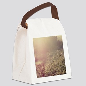 Grasses and mist. Canvas Lunch Bag