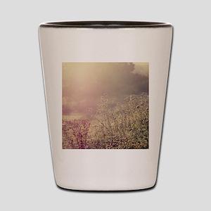 Grasses and mist. Shot Glass