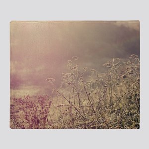 Grasses and mist. Throw Blanket