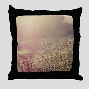 Grasses and mist. Throw Pillow