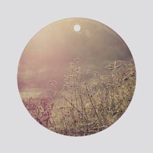 Grasses and mist. Round Ornament