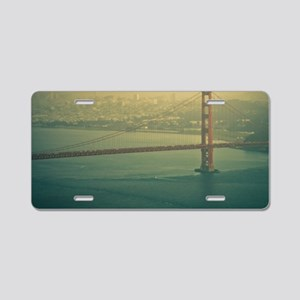 Golden Gate bridge at sunse Aluminum License Plate