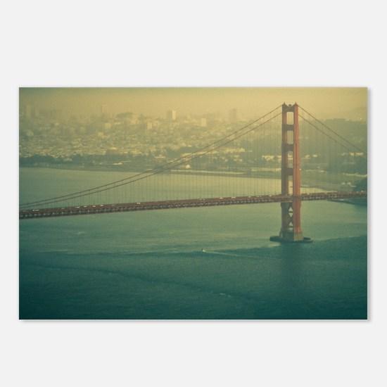 Golden Gate bridge at sun Postcards (Package of 8)