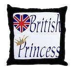British Princess Throw Pillow
